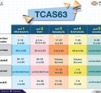 กำหนดการ TCAS 63