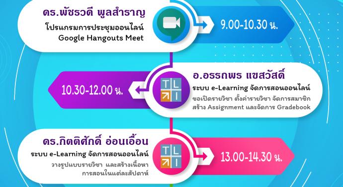 อบรมการใช้โปรแกรมการประชุมออนไลน์และการจัดการเรียนการสอนออนไลน์